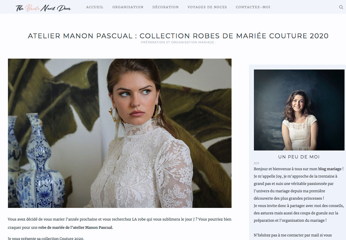 The Bride Next Door - Collection Manon Pascual