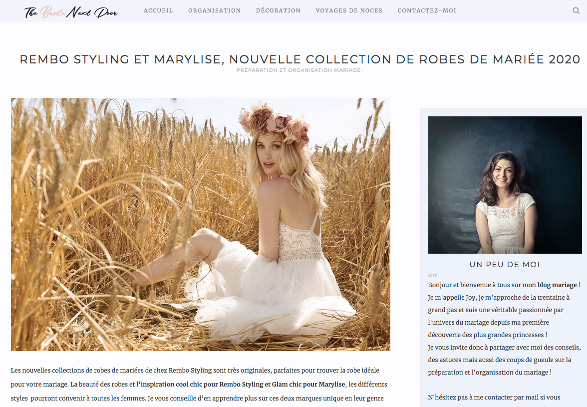 The Bride Next Door - Collection Rembo Styling & Marylise